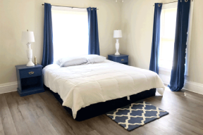 Traditional bedroom for patients undergoing residential treatment at our drug rehab in Ohio